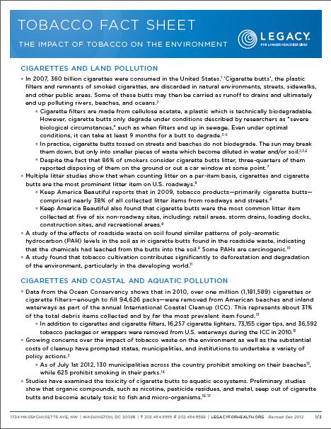 Tobacco Fact Sheet