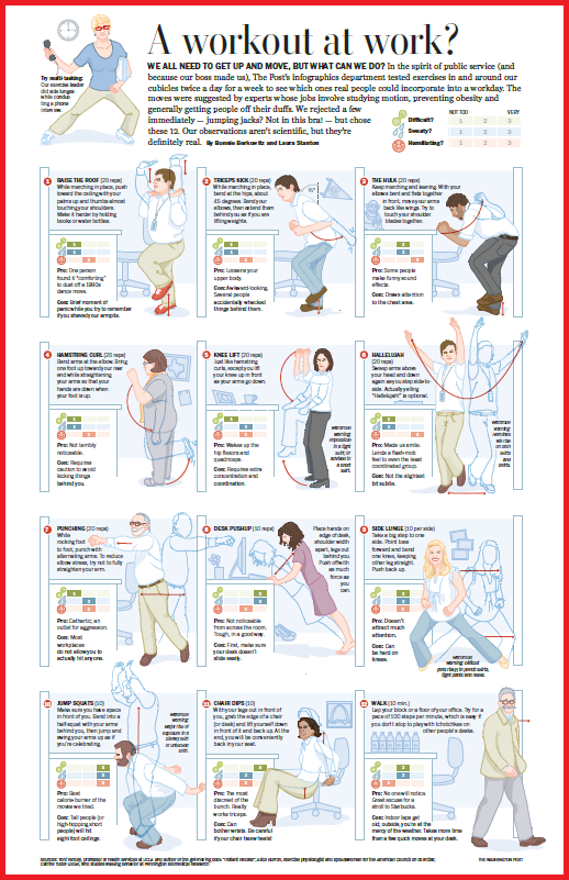 Office Exercise Poster