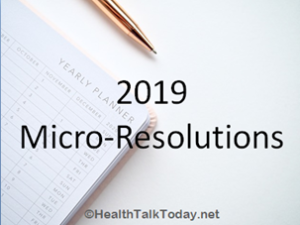 2019 Micro-Resolutions